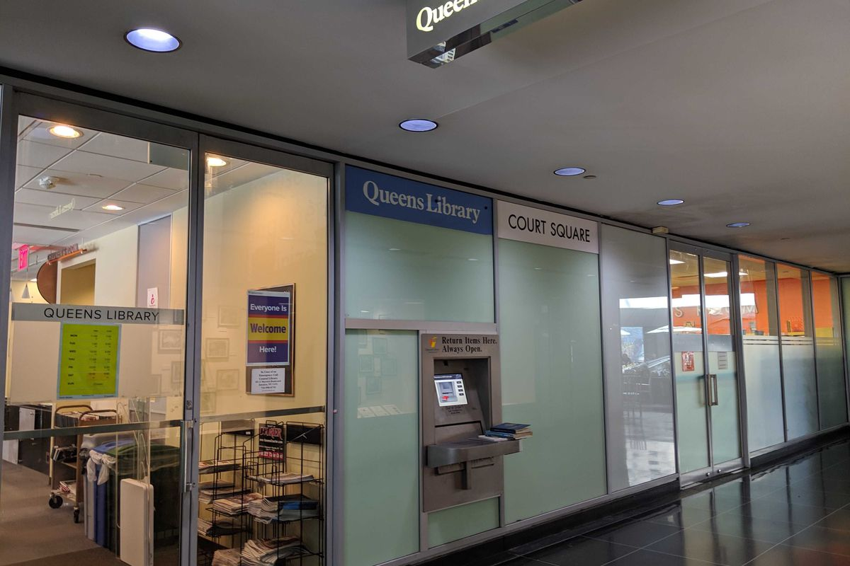 The Court Square branch of the Queens Public Library.