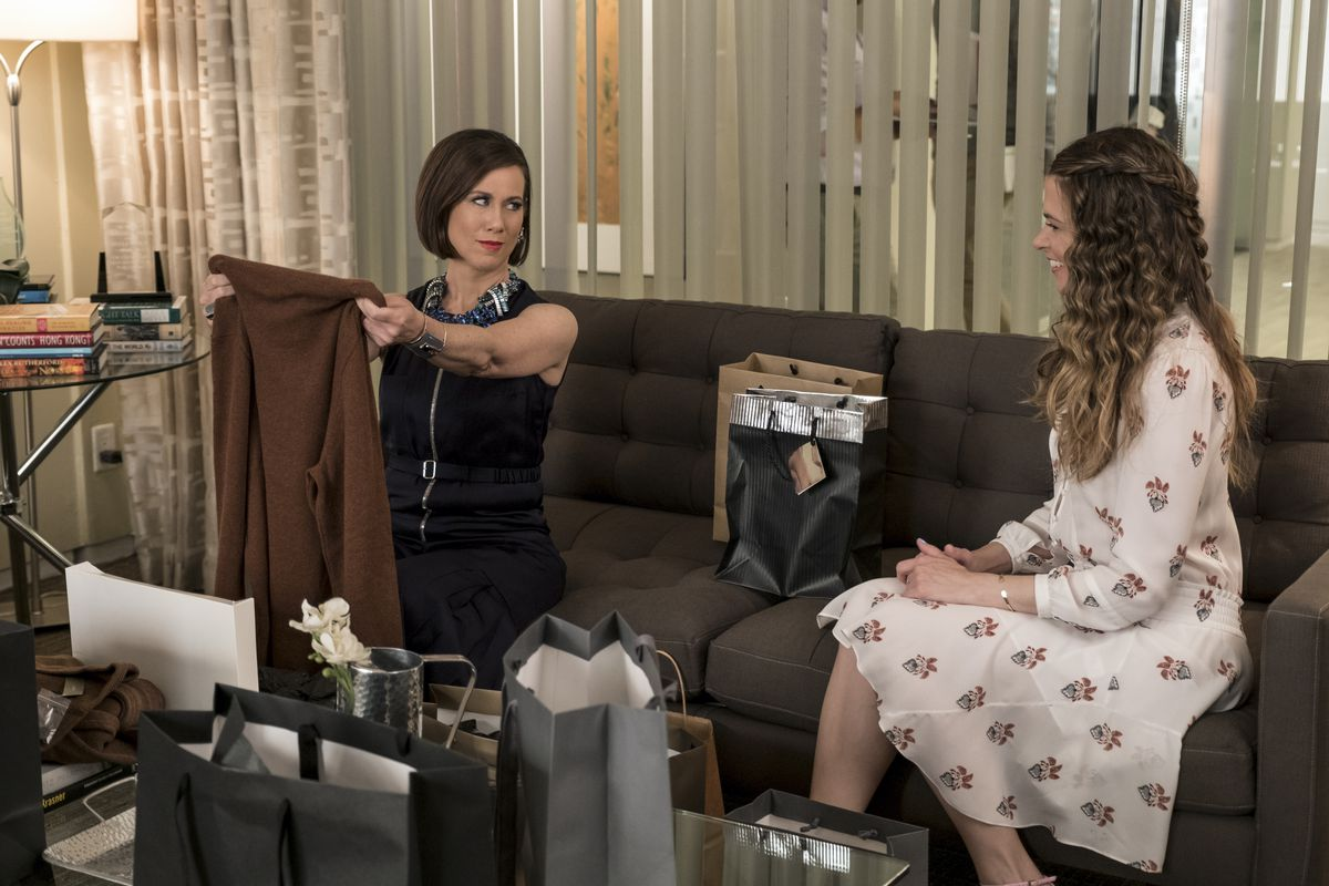 Miriam Shor as Diana Trout in season 4 of Younger.