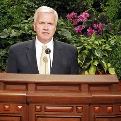Brook P. Hales speaks during the 182nd Annual General Conference for The Church of Jesus Christ of Latter-day Saints at the LDS Conference Center in Salt Lake City on Saturday, March 31, 2012.