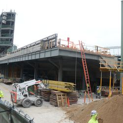 1:39 p.m. Another view of the left-field bleachers -