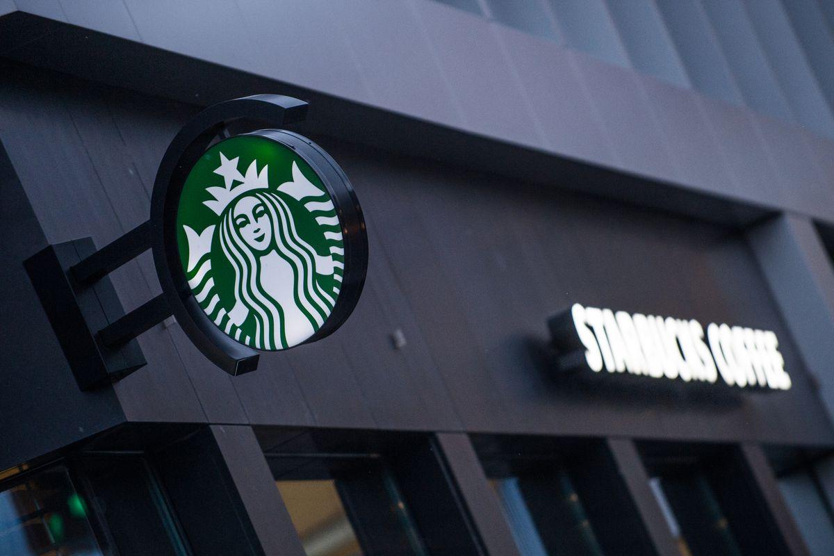 A starbucks logo seen in Szczecin...
