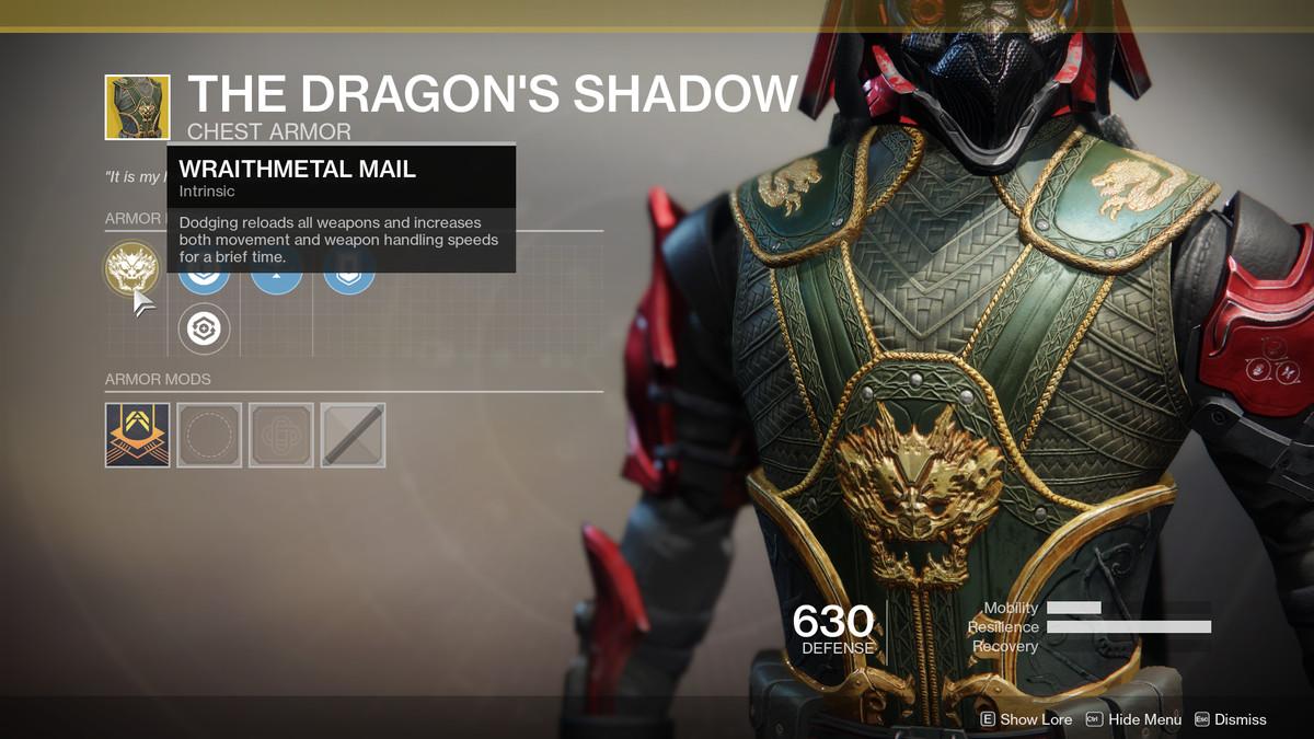 The Dragon's Shadow Exotic Destiny 2