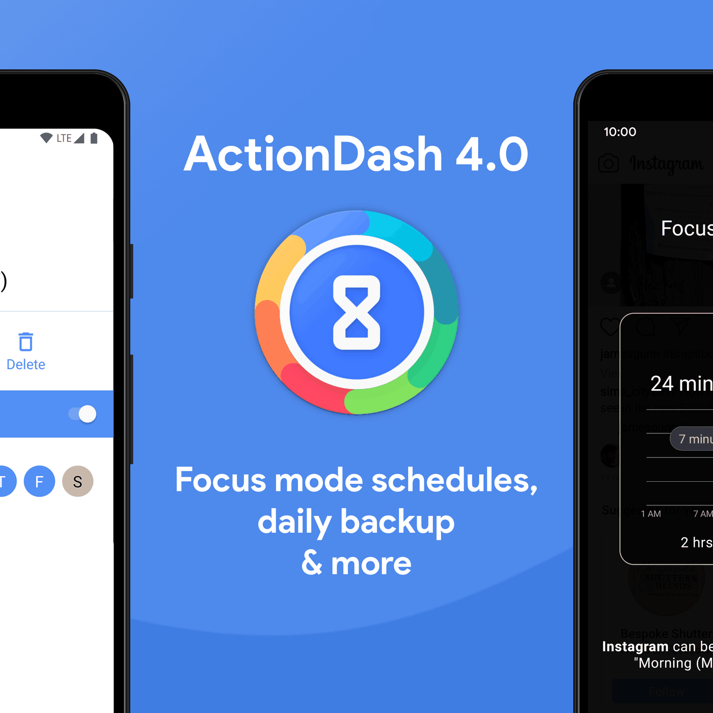 ActionDash's new Focus mode schedules let you easily block work apps