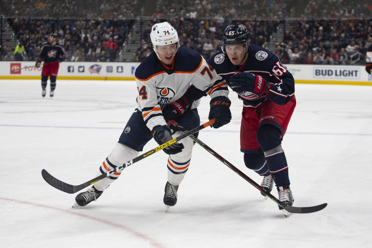 NHL: OCT 30 Oilers at Blue Jackets