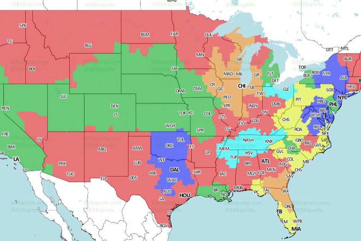 Nfl tv map which nfl team are you stuck watching every sunday nfl week tv maps will you get to watch titansbrowns music sciox Choice Image