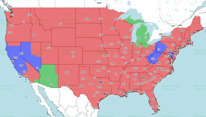 Eagles Vs Cowboys Game Tv Coverage Map Bleeding Green Nation