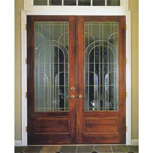 Cambria Door From Simpson Contains Leaded Glass