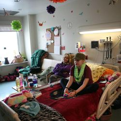 Wendy Magera and her daughter, Sarah, 13, who has AML leukemia, hang out in Sarah's room at Primary Children's Medical Center in Salt Lake City on Thursday, Jan. 31, 2013.