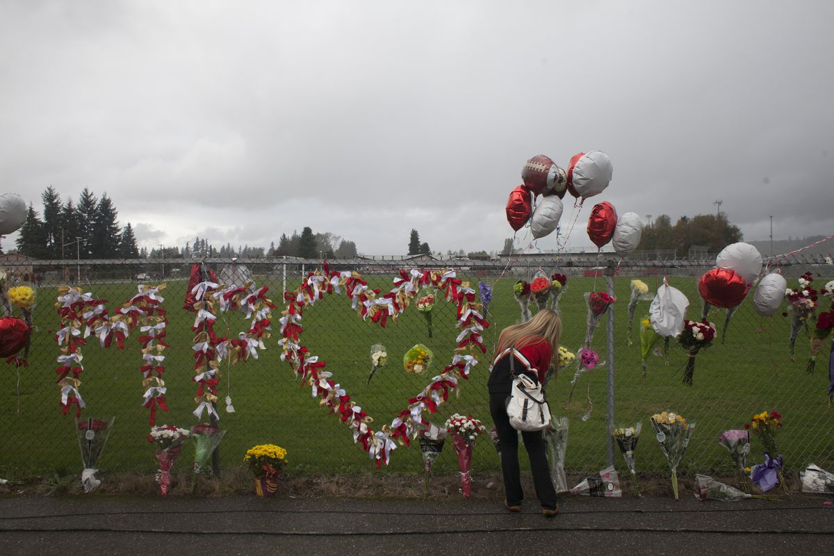 A community mourns the shooting at Marysville-Pilchuck High School in Washington state.