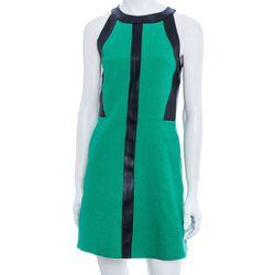 "<b>Sea</a> Leather Insert Crewneck Dress, <a href=""http://www.scoopnyc.com/women/dresses-1/leather-insert-crewneck-dress"">$495</a> at Scoop NYC"