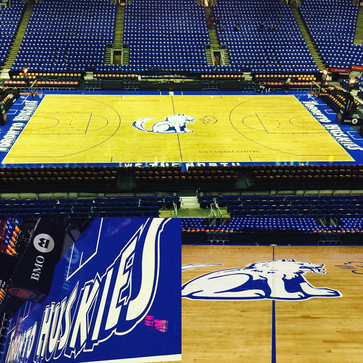 best cheap 9c850 b6cb0 Raptors have an incredible Toronto Huskies throwback court ...