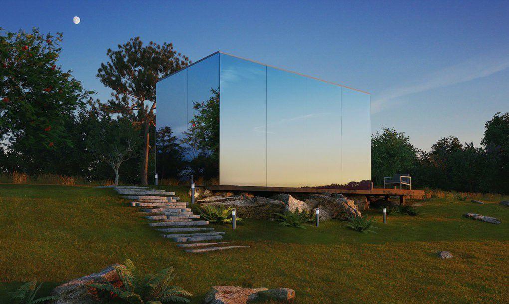 mirrored glass prefab