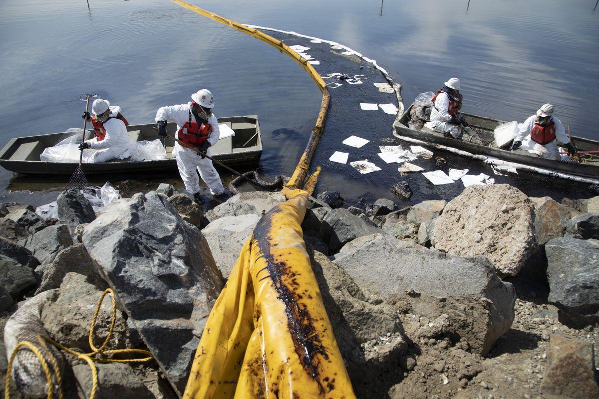 huntington beach oil spill talbert marsh