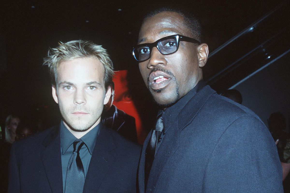 Stephen Dorff And Wesley Snipes At The Premiere Of Their New Movie Blade