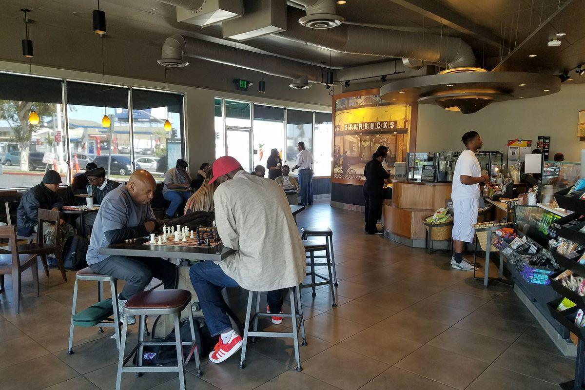Magic Johnson Starbucks