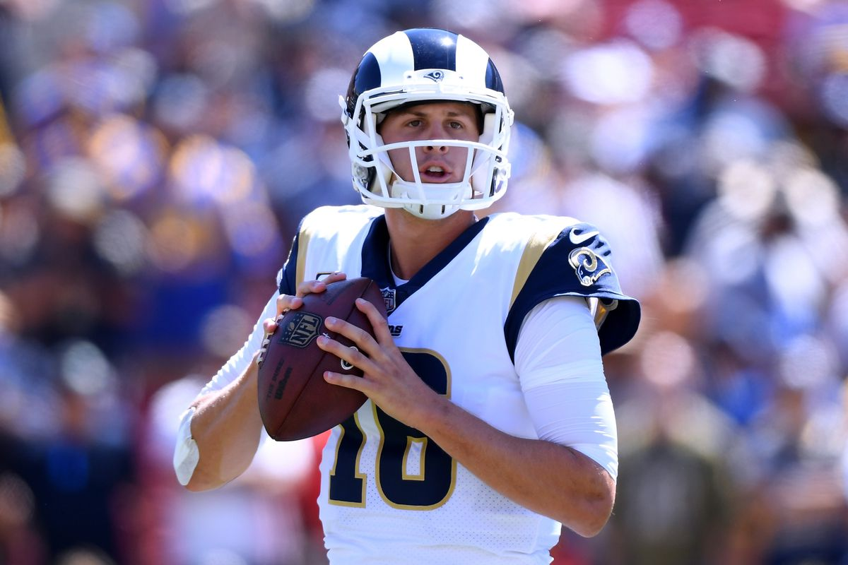 "PFF ranks ""system QB"" Rams  QB Jared Goff 18th after two weeks - Turf Show  Times 46dc4d143"