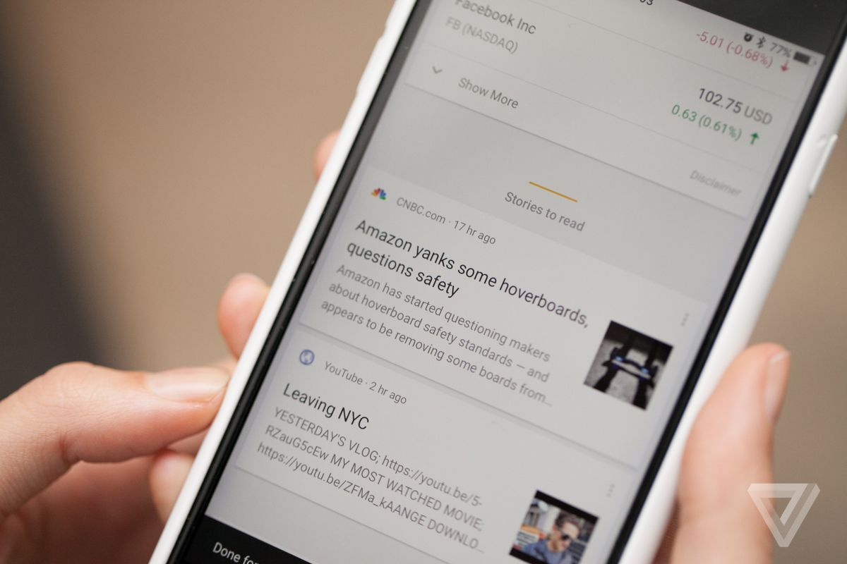 Google is putting a news feed in Android's home screen - The