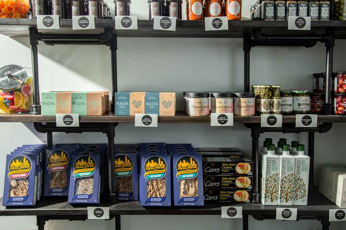 Tahini, matzo, and other offerings at Biederman's
