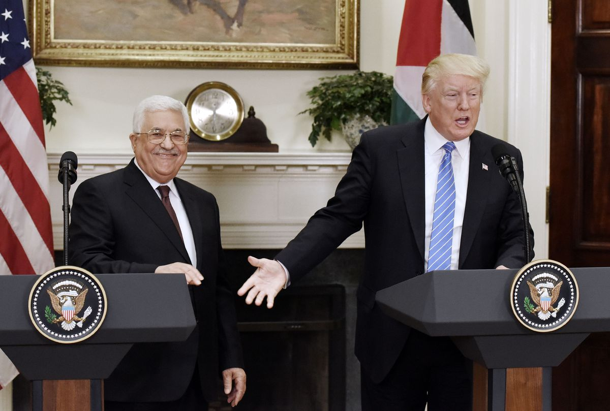 President Trump Welcomes Palestinian President Abbas To White House