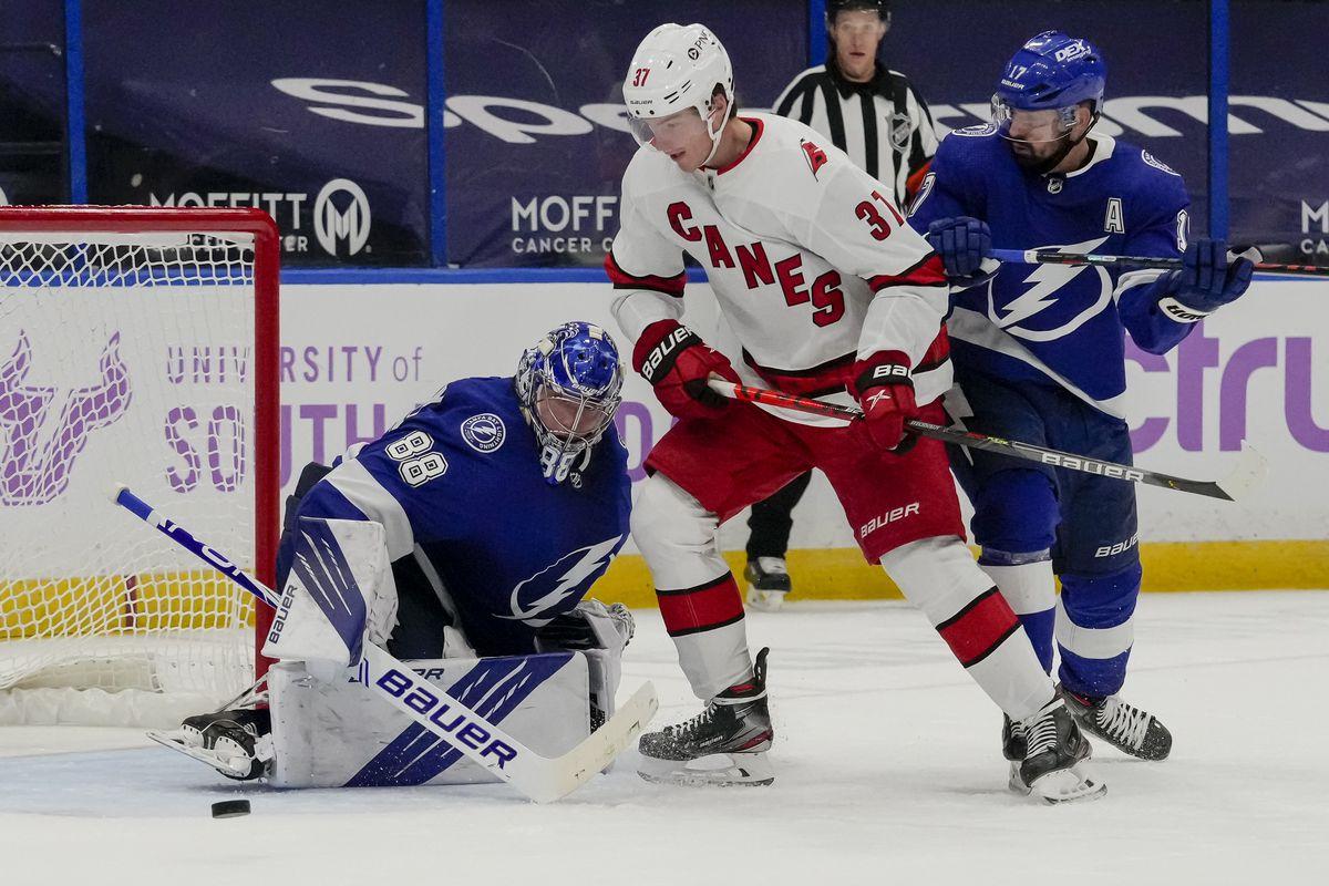 NHL: APR 20 Hurricanes at Lightning
