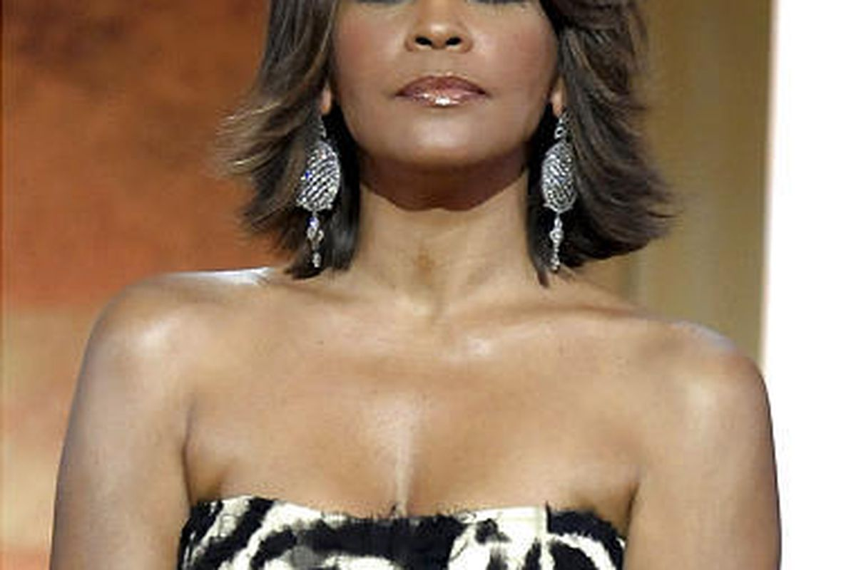 This Jan. 17, 2009 file photo shows singer Whitney Houston at the BET Honors in the Warner Theatre in Washington.