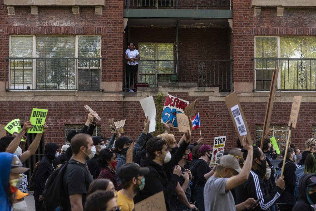 A march through Chicago's Washington Park neighborhood demanding the creation of the Civilian Police Accountability Council was organized by a coalition of groups, including Black Lives Matter Chicago.