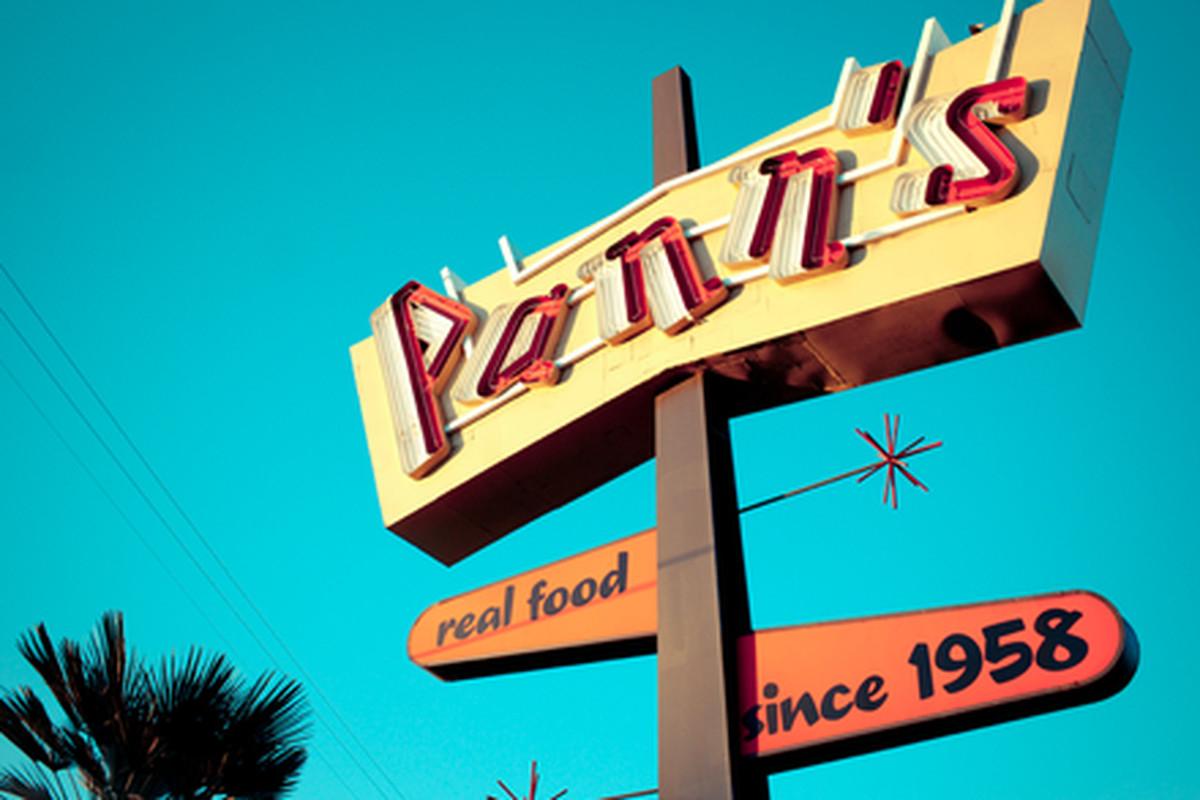 Outside Pann's Restaurant, Crenshaw.