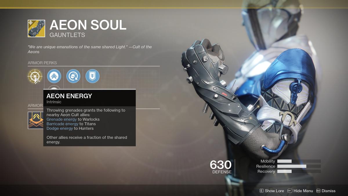 Aeon Soul Exotic Destiny 2