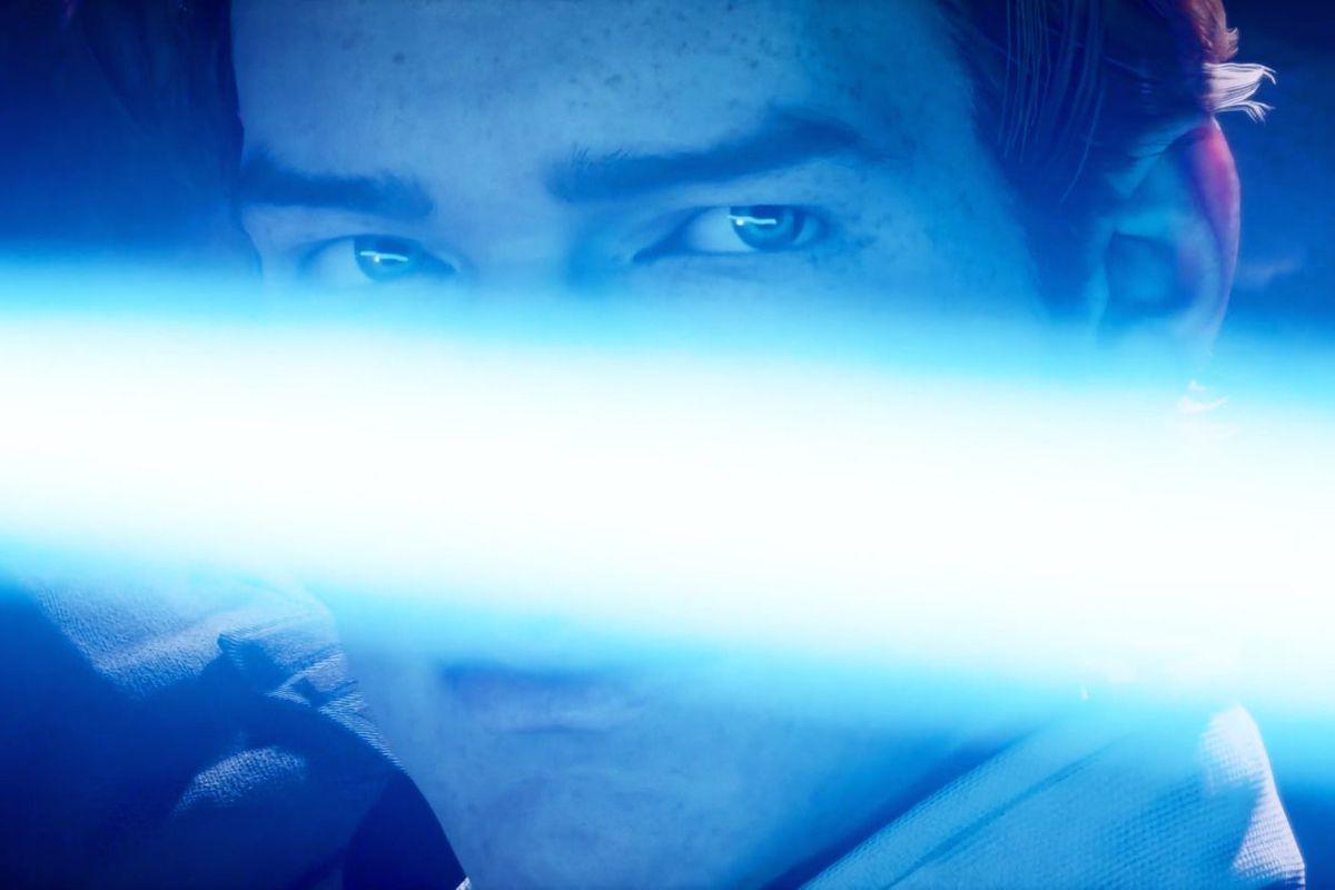 Cal Kestis ignites his lightsaber in a screenshot from Star Wars Jedi: Fallen Order