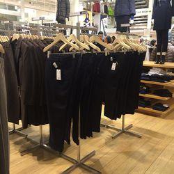 Women's black wool blend pants, $60