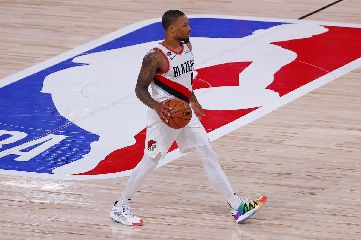 Damian Lillard Wore Pride Sneakers From Dame 6 Collection During Game Outsports