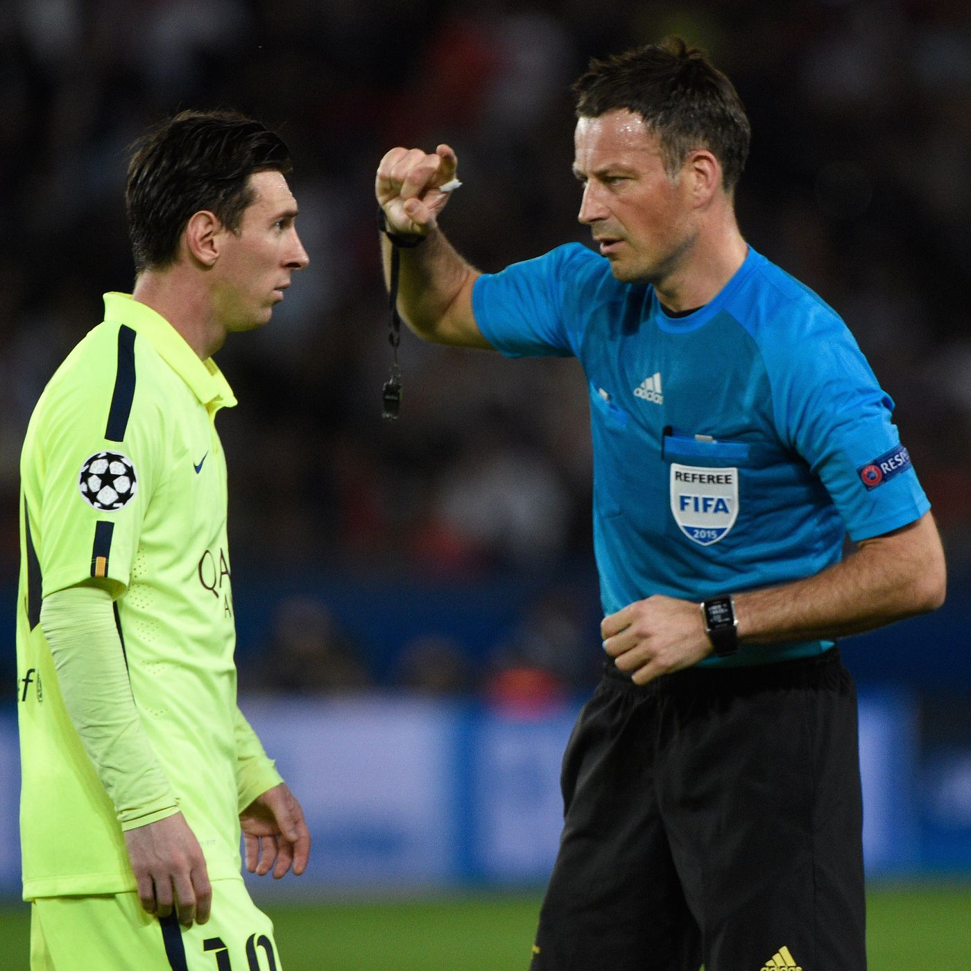 Mark Clattenburg explains what it's like to referee Lionel Messi - Barca  Blaugranes