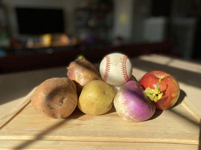 IMG 1440  1  - What vegetables are best for carving into baseballs? A Secret Base investigation