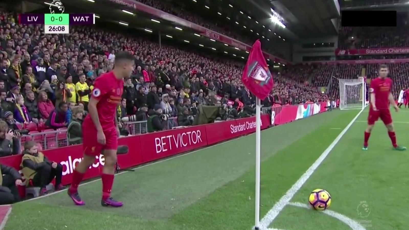 Watch Coutinho Mane Execute Perfect Corner Kick Routine