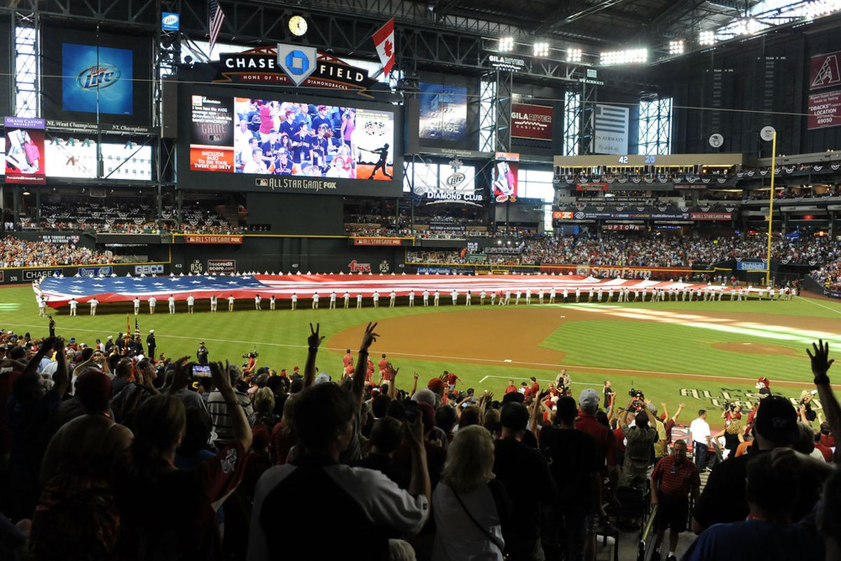 PHOENIX, AZ - JULY 12:  A general view of the field prior to the 82nd MLB All-Star Game at Chase Field on July 12, 2011 in Phoenix, Arizona.  (Photo by Norm Hall/Getty Images)