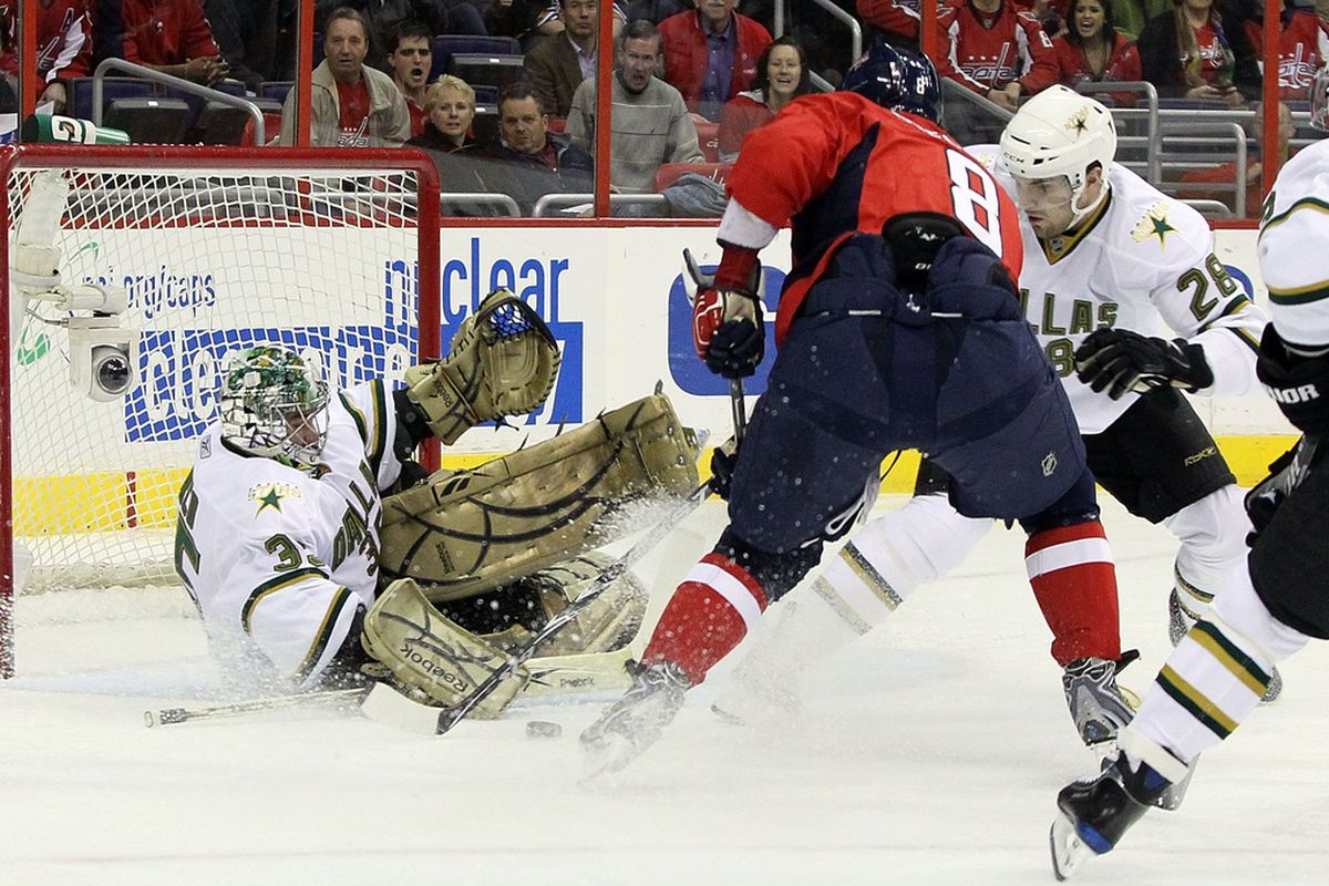 Alex Ovechkin takes on a slew of Stars