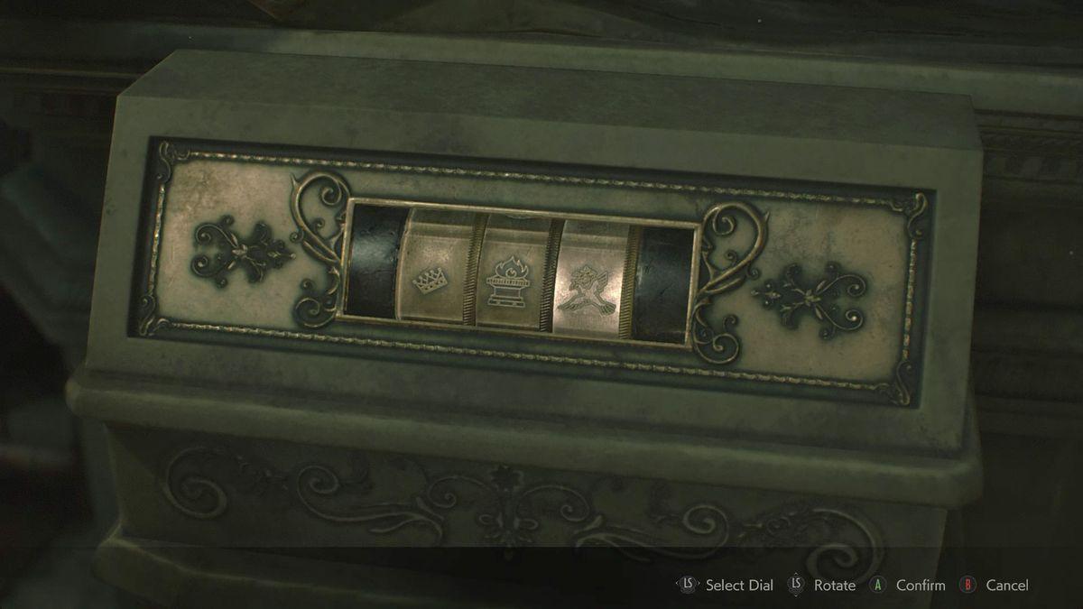 Resident Evil 22nd Run Lion Statue solution