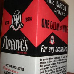 A look at the first 'cask wine' created circa 1960s Australia. Boxed by Angove's Renmark winery.