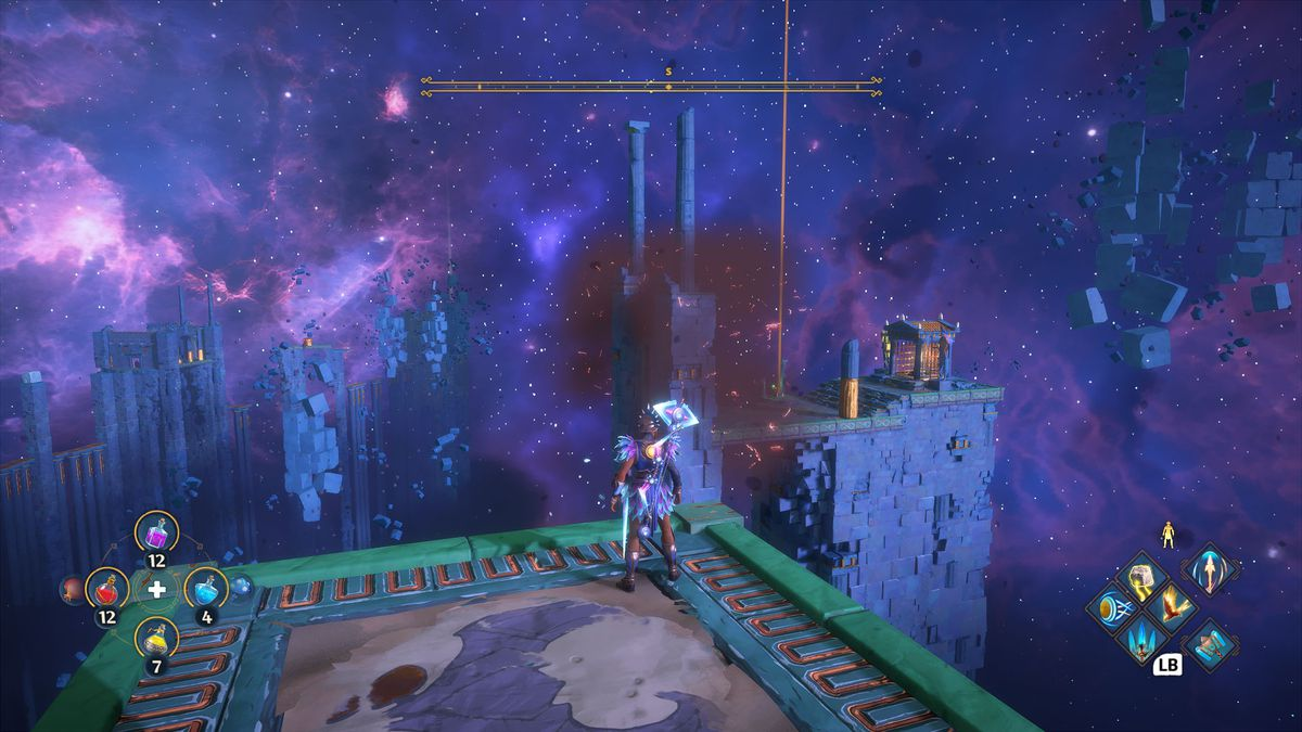 A puzzle solution for The Messenger's Path Vault of Tartaros in Immortals Fenyx Rising