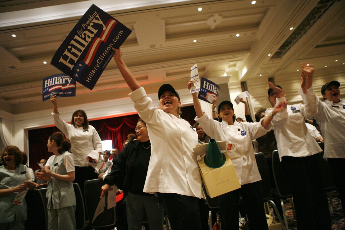 Nevada culinary workers at 2008 caucuses