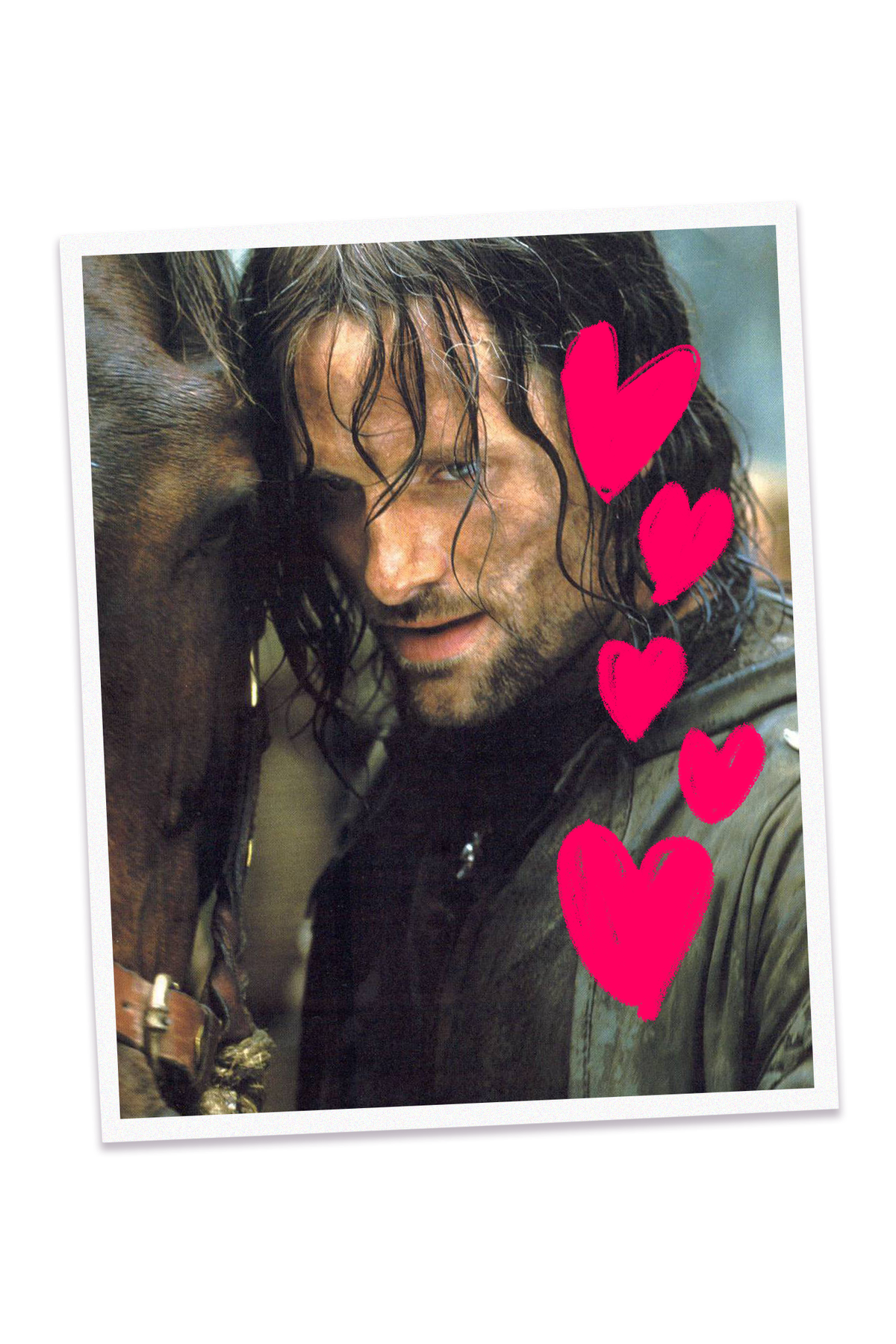 Photo of Viggo Mortensen as Aragorn in the Lord of the Rings movie trilogy