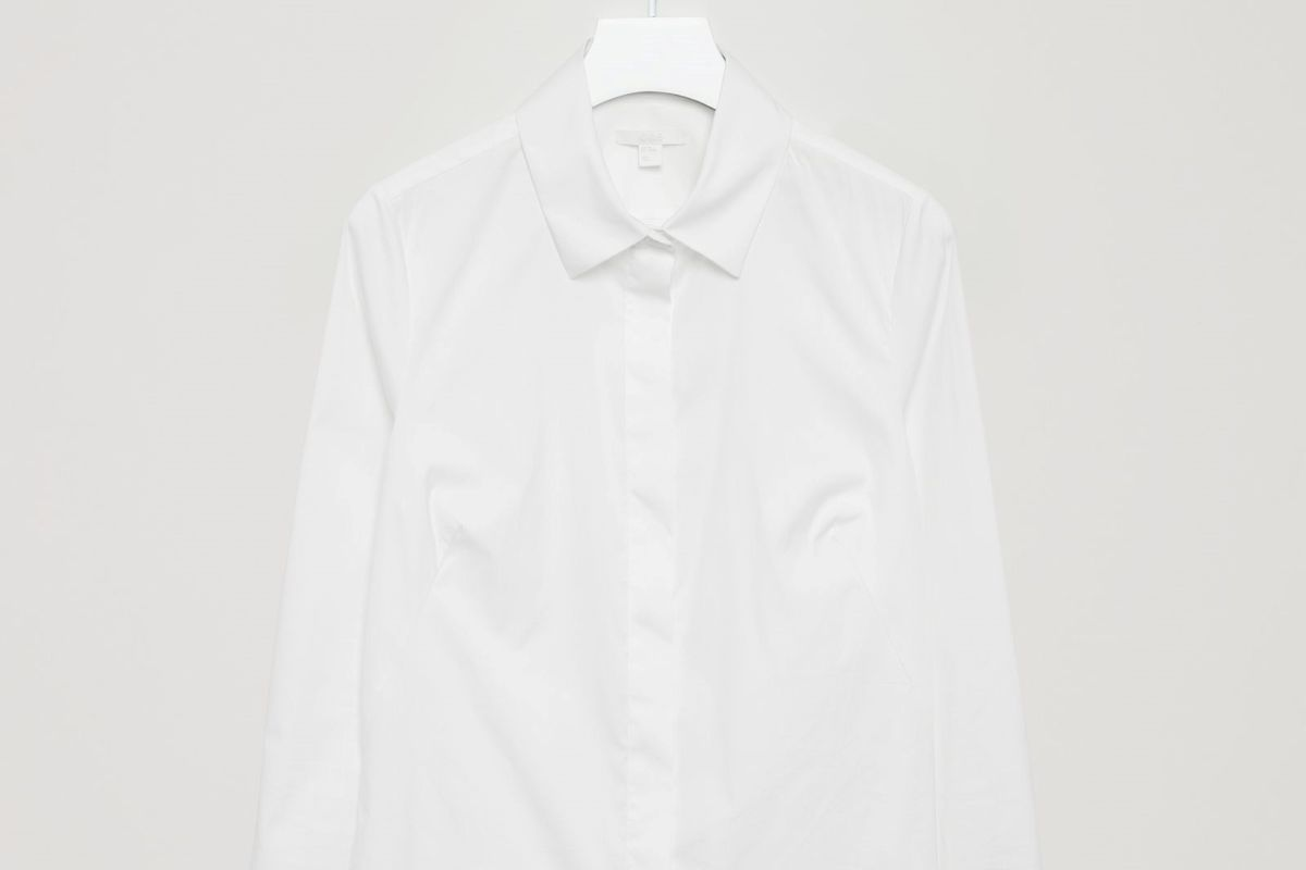 """COS's """"slim-fit shirt"""" rises, ghost-like, from the aether."""