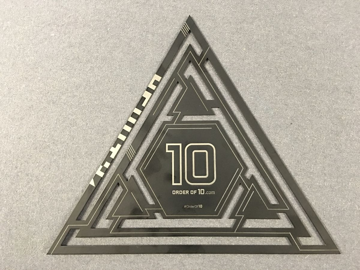 order of 10