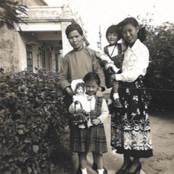 Three-year-old Linda with her family in Hong Kong in 1949 after they escaped from China.   Linda Yu Family Photos