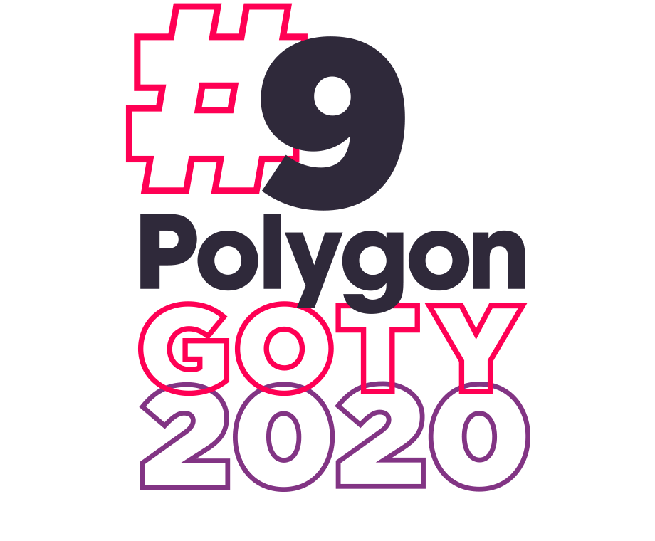 Graphic layout of the words #9 Polygon GOTY 2020
