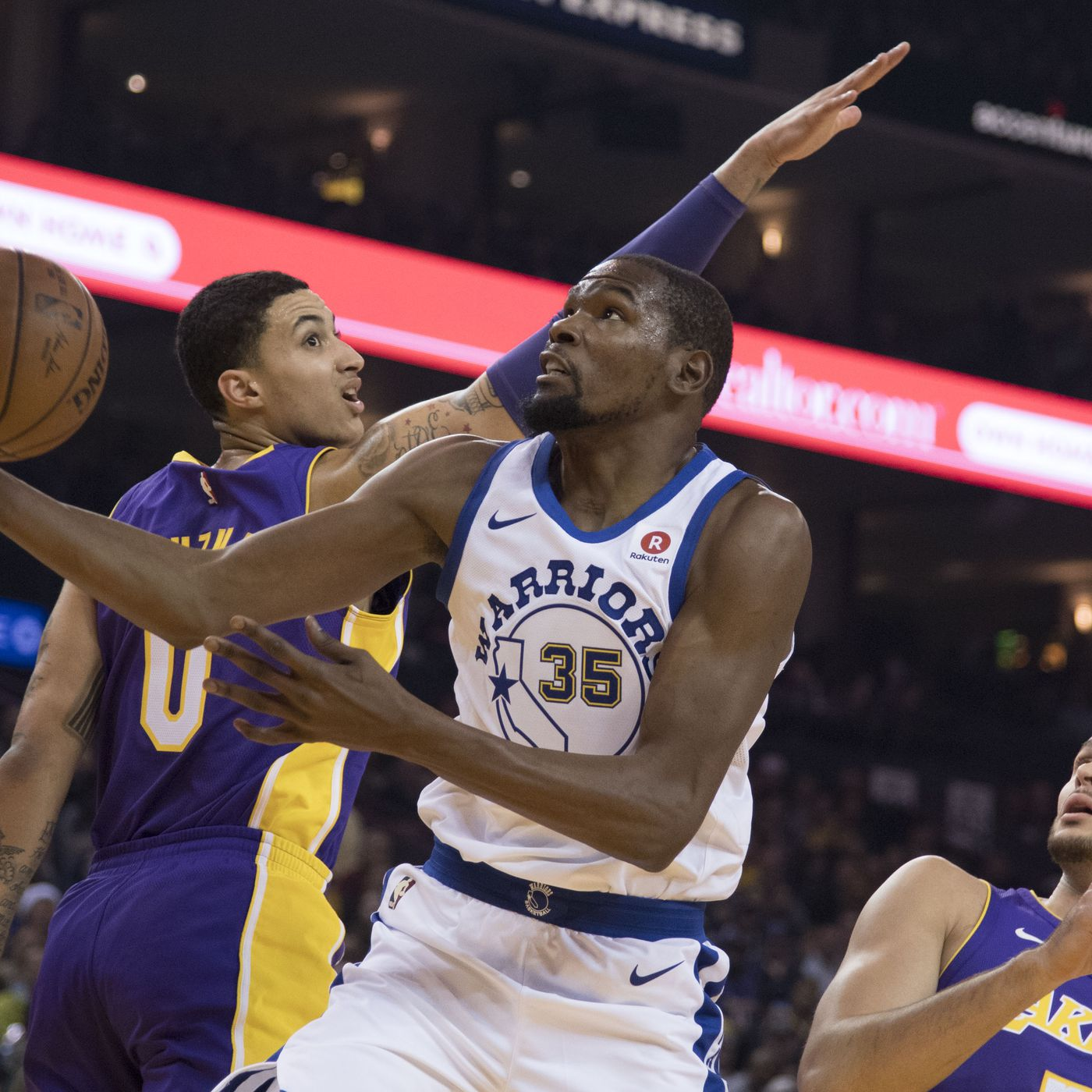 d89eb9f94d1 Lakers News  Kyle Kuzma says he changed his jersey number because of Kevin  Durant