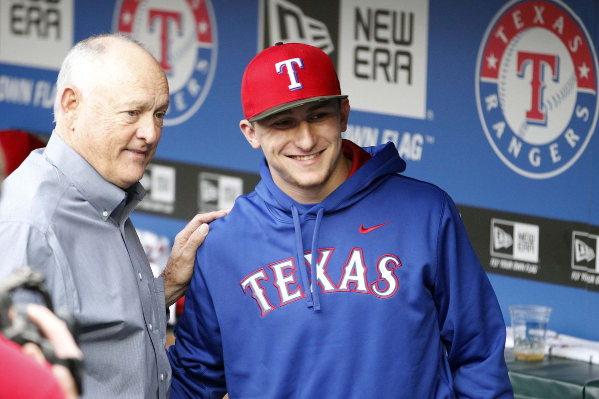 I do not have a picture of Reid Ryan.  However, here is Nolan Ryan and Johnny Football.