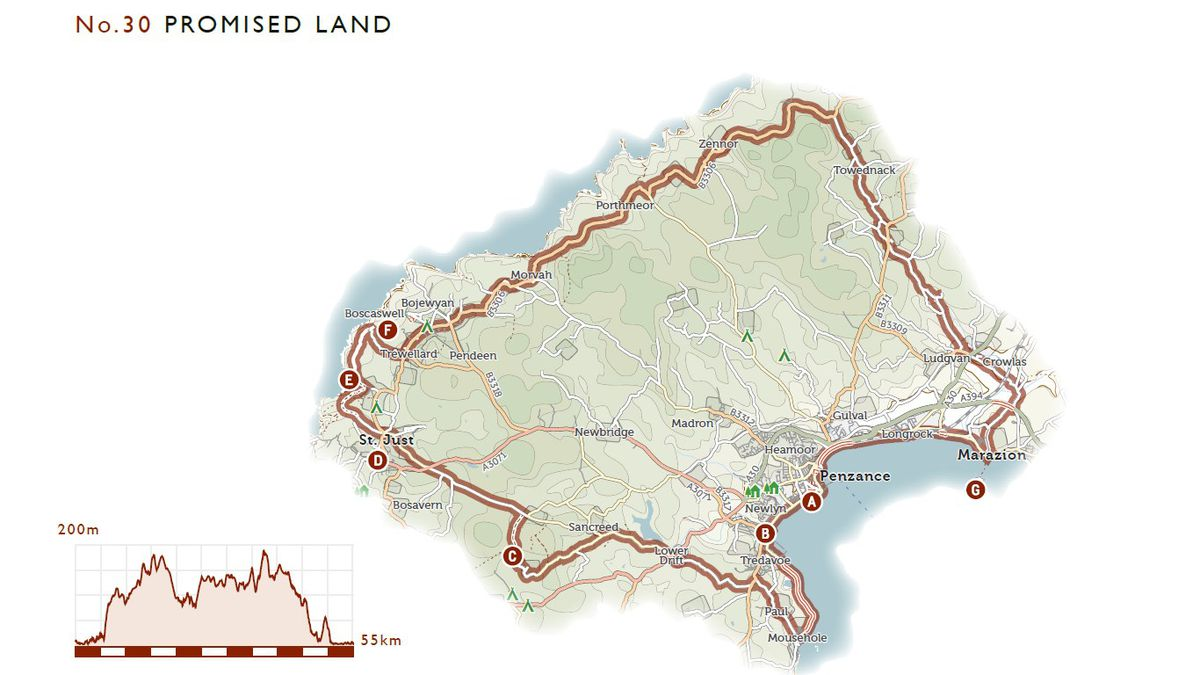 The Promised Land, from Jack Thurston's Lost Lanes West - 36 Glorious Bike Rides in the West Country
