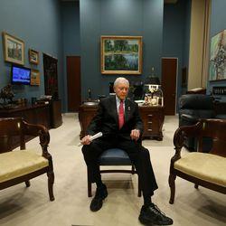 Sen. Orrin Hatch, R-Utah, president pro tem of the U.S. Senate, sits in his office in the Capitol in Washington, D.C., on Wednesday, Dec. 9, 2015.