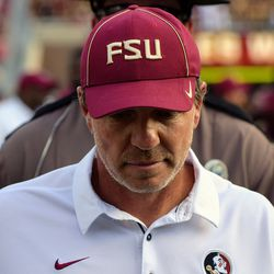 Florida State head coach Jimbo Fisher after the first home win of 2017.
